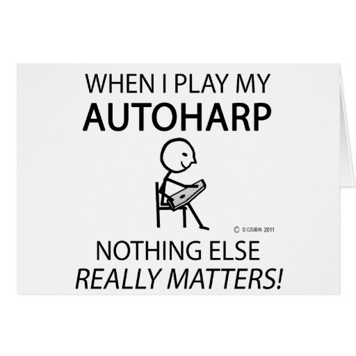 Autoharp Nothing Else Matters Card