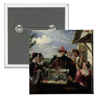 Autolycus, scene from 'A Winter's Tale', 1836 (oil 2 Inch Square Button