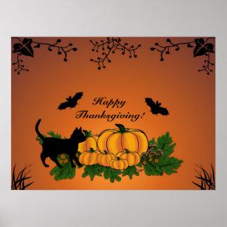 automne, bon thanksgiving ! affiches