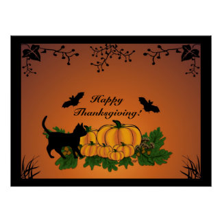 automne, bon thanksgiving ! posters