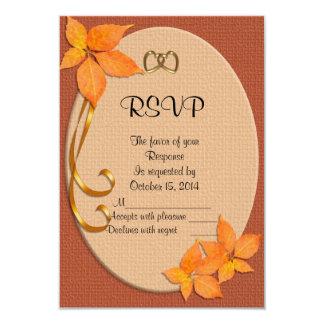 Automne de chute épousant la carte de réponse de carton d'invitation 8,89 cm x 12,70 cm