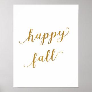 Automne heureux - décor - copie d'art - or