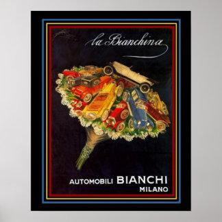 Automobile Bianchi Vintage Auto Show Ad 16 x 20 Poster