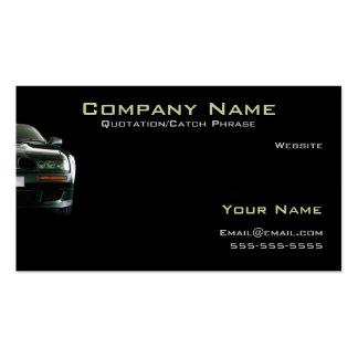 Automobile/carte de visite d'assurance