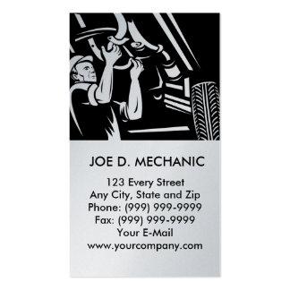 Automobile de réparation de mécanicien de voiture modèle de carte de visite