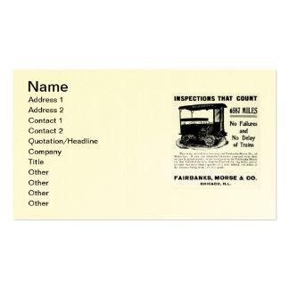 Automobile d'inspection de voie de Fairbanks Morse Carte De Visite Standard