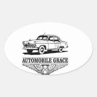 automobile grace fun oval sticker