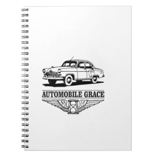automobile grace fun spiral note book