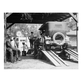Automobile Service Station, 1924. Vintage Photo Postcard