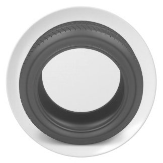 Automobile tire plate