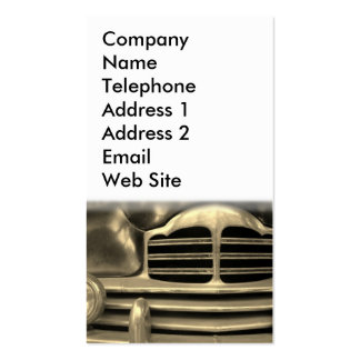 Automobile vintage carte de visite standard