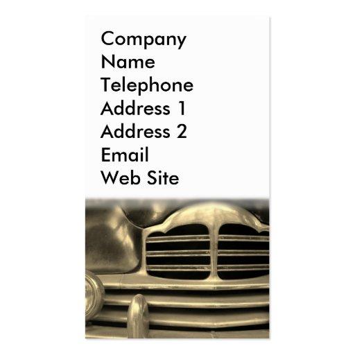 Automobile vintage carte de visite