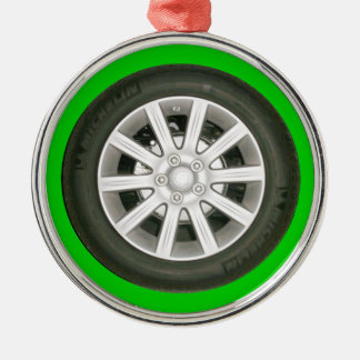 Automobile Wheel Metal Ornament