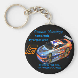 Automotive Custom Detailing Keychain