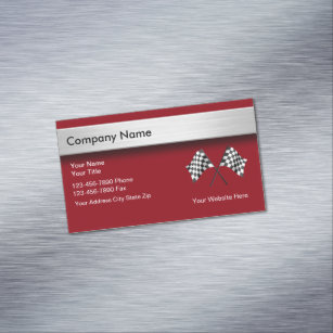Used cars business cards business card printing zazzle ca automotive magnetic business card reheart Choice Image