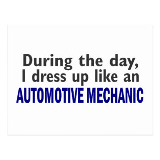 AUTOMOTIVE MECHANIC During The Day Postcard