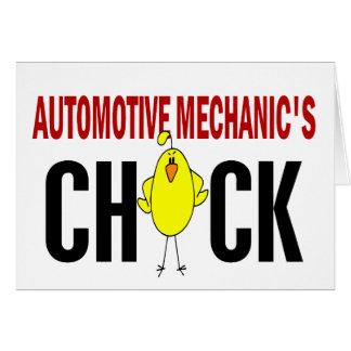 Automotive Mechanic's Chick Card