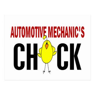 Automotive Mechanic's Chick Postcard