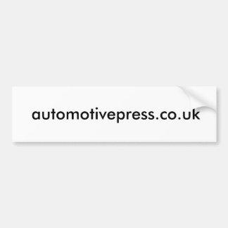 Automotive Press bumber/window sticker Bumper Sticker