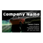 Automotive Red American Retro Muscle Car Business Card Templates