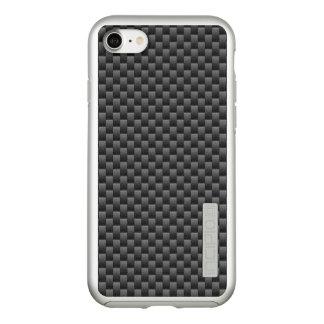 Automotive Style Black Carbon Fiber Print on a Incipio DualPro Shine iPhone 8/7 Case