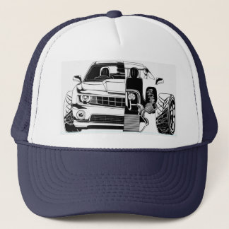 Automotive trucker hat