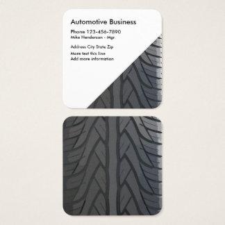 Automotive Unique Tire Tread Square Business Card