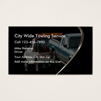 Automotive Wrecker Towing Business Card