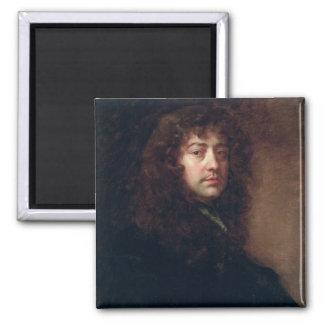 Autoportrait, 1665-70 (huile sur la toile) magnet carré