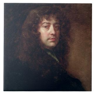 Autoportrait, 1665-70 (huile sur la toile) grand carreau carré