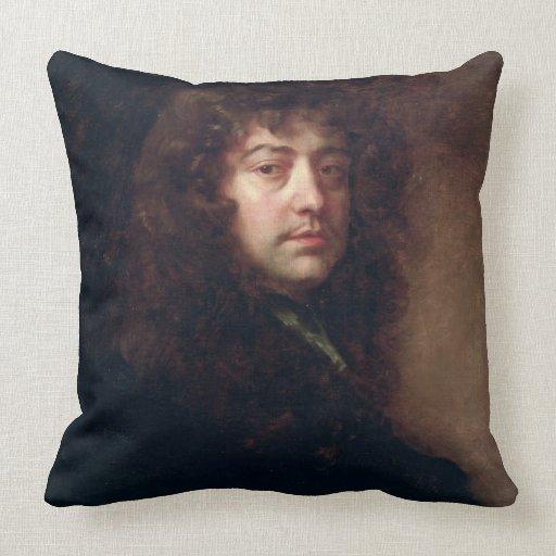 Autoportrait, 1665-70 (huile sur la toile) oreillers