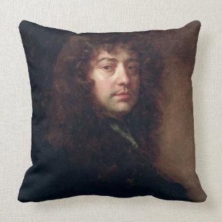 Autoportrait, 1665-70 (huile sur la toile) coussins carrés