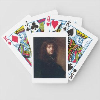 Autoportrait, 1665-70 (huile sur la toile) jeux de cartes