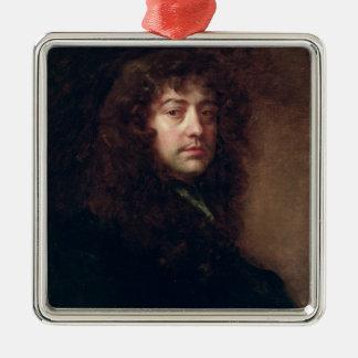 Autoportrait, 1665-70 (huile sur la toile) ornement carré argenté