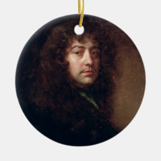 Autoportrait, 1665-70 (huile sur la toile) ornement rond en céramique