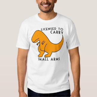 Autorisé à porter le dinosaure de T-rex d'armes de T-shirt