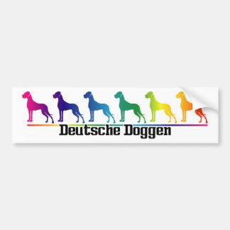Autosticker Doggen Bumper Sticker