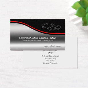 Used cars business cards business card printing zazzle ca autotrade classic car on steel effect business card reheart Choice Image