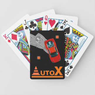 AUTOX-Red Bicycle Playing Cards