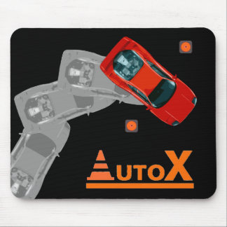 AUTOX-Red Mouse Pad