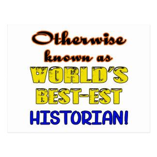 Autrement connu comme historien bestest du monde carte postale