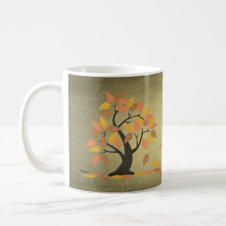 Autumn (秋) Fall Tree Leaves Mug