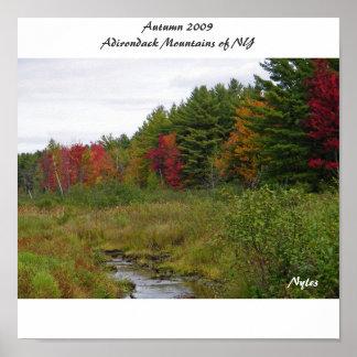 Autumn 2009 Adirondack Mountain... Poster
