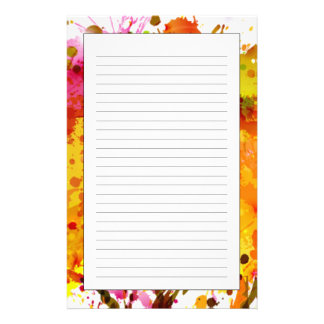 Autumn Abstract Tree Forming By Blots Stationery