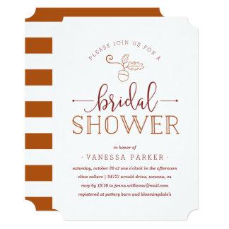 Autumn Acorn Bridal Shower Invitation
