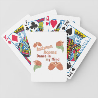 Autumn Acorns Bicycle Playing Cards