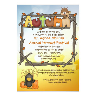 Autumn Affair Invitation