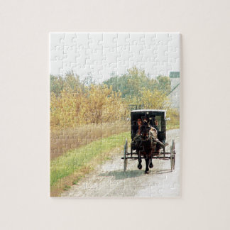 Autumn Amish Horse and Buggy Jigsaw Puzzle