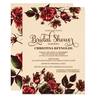 Autumn and Fall Floral Bridal Shower Card