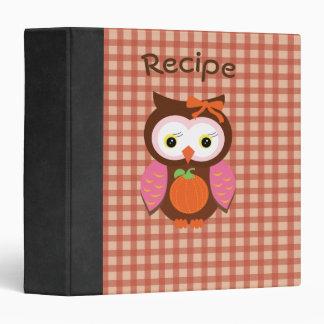 Autumn Animal Cute Owl Photo/Recipe Binder
